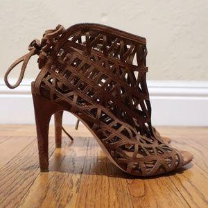 Zara Basic Peep Toe Heels sz 7.5